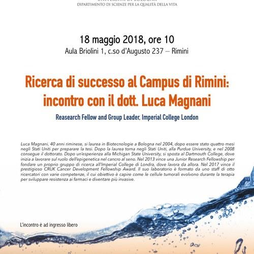 Ricerca di successo al Campus di Rimini: incontro con Luca Magnani